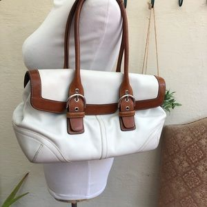 Authentic Coach Hamptons Soho Leather Satchel Bag